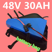 Wholesale used motors - High capacity 48v motor lithium battery 750-1200W 48V 30AH triangle battery with ,use cell with 2A charger