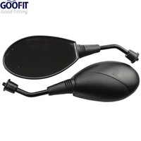 sport mopeds - GOOFIT Motorcycle Scooter Moped Atv Rearview Mirrors Fits for Sport Bike Electric Scooters Side Rear View Mirrors E036 order lt no track