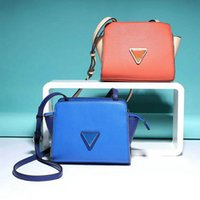 AF617 Modern Fashion trapuntato patchwork triangolo cerniera PU Donna lady girl piccole dimensioni smart messenger borse cross body flap GUS