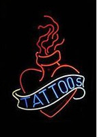 """Wholesale Tattoo Tubes White - 2016 New Tattoo Neon Sign Handcrafted Custom Real Glass Tube Neon Beer Bar KTV Club Pub Store Advertisement Display Neon Signs 17""""X14"""""""