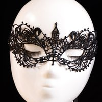 Wholesale Floral Dress Accessories - Wholesale-1PC Beautiful lady Black Lace Floral Eye Mask Venetian Masquerade Fancy Party Prom Dress Accessories drop shipping