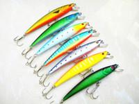 minnow balıkçılık cazibesi 11cm toptan satış-Toptan-35 adet Minnow cazibesi 11 CM 11G balıkçılık lures sert yem balık kanca olta takımı yüzmek alabalık lur ücretsiz kargo