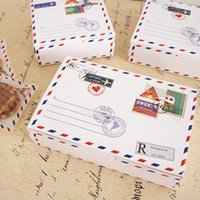 Wholesale Cake Boxes Packaging Pattern - Free shipping envelope pattern decoration cake box long white cookie dessert packing boxes bakery package party party supplies