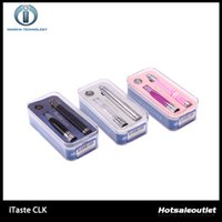 Wholesale E Cig Rechargeable Pink - Innokin itaste CLK Starter Kit iTaste E-Cig Kits iClear16D Dual Coils Cartomizer Variable Voltage Rechargeable 800mAh Battery 100% Authentic