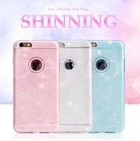 Wholesale Iphone4 Cover Bling - For iPhone 6 5 5S 4 4S i6 Plus Bling Glitter Transparent TPU Rubber Phone Cases Cover For iPhone6 iPhone5 iPhone4 Cases