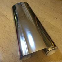 pegatinas adhesivas de espejo al por mayor-5 mx61 cm decoración para el hogar espejo de plata efecto reflectante gabinetes de armario a prueba de agua autoadhesivo de PVC muebles de papel de pared pegatinas de pared