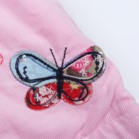 Wholesale Nova Girls Long Sleeve - Wholesale-Nova brand 2015 hot selling with lovely girl patten and butterfly embroider long sleeve hoodies pink winter coat wholesale