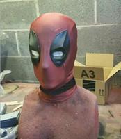 costumes de rôle achat en gros de-Nouveau Les Avengers Deadpool Cosplay Costumes X homme Fantaisie Costumes Slim serré Thème Costume Roleplay Accessoires de chapellerie Zentai Costumes masque