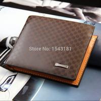 Wholesale Mens Id Wallets - Wholesale-2015 New men wallets famous brand mens wallet male money purses Soft ID Card Case classic soild pattern designer wallet