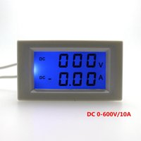 Wholesale Electrical Digital Meter - 1pcs DC 0-600V DC 0-10A Voltage Ampere Meter LCD Display Digital Voltmeter Ammeter Power Supply DC 3-40V No Need Shunt
