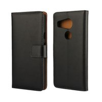 Wholesale nexus cases genuine leather resale online - High Quality Black Genuine Leather Wallet Case Cover For LG Nexus X with Stand Style and Card Holder Phone Bag Free