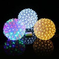 All'ingrosso- Prugna Flower Indoor Garden Party Decor LED Light Festival Illuminative Lights String CLH @ 8