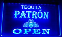 LS005 Patrón Tequila Cerveza OPEN Bar Neon Light Sign
