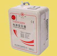 Wholesale Voltage Converter Plug - US plug 110v 120v to 220v 240v 3000W step-up transformer Voltage Converter Transformer Converts BT181
