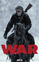 Wholesale War Poster - War for the Planet of the Apes Movie posters Wall 12x18 13x20 20x30 24x36 27x40 inch Canvas printing 03