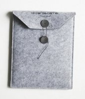 """Wholesale Button Ipad Case - Leather buttons and rope felt laptop bag 7""""10 """" notebook computer bag case drop shipping Can be customized adding logo"""