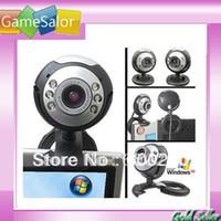 Wholesale Computer Web Camera Mic - 8.0 Mega 30 M USB 6 LED Webcam Web Cam Camera Laptop Computer With Mic New free shipping #8099