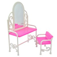 Wholesale And Retail Fashion Dressing Table And Chair Set For Dolls Bedroom Furniture