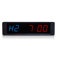светодиодная продукция оптом оптовых-[Ganxin]Оптовая запатентованный продукт горячие продать 1 дюйм 6 цифр Спорт фитнес обучение таймер тренажерный зал оборудование светодиодные часы
