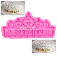 Hot NEW Princess Crown Moldes de Pastel de Silicona Wedding Cake Border Fondant Herramientas de decoración de Pasteles Cupcake Moldes de Chocolate