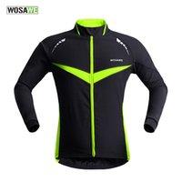 Wholesale Cycle Thermals - Wholesale-2015 New Professional Thermal Cycling Jacket Winter Running Sport Jacket Men Women High Quality WOSAWE 2 Colors BC266