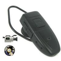 гарнитура dvr оптовых-Bluetooth наушники гарнитура камеры 4 ГБ HD Bluetooth гарнитура DVR обскура камеры видеорегистратор мини видеокамеры в розничной коробке droshipping 12 шт.