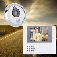 """Wholesale Digital Peephole Viewers - 2.8"""" LCD Digital Ring Monitor Door Peephole Viewer 0.3 Mega Pixels Photograph Cat Eye Doorbell Peephole Camera Cam Door Bells"""