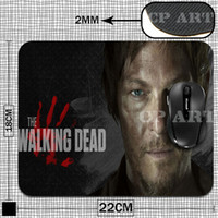 Wholesale Mat Walk - Wholesale-Gaming Mouse Pad The Walking Dead Daryl Dixon Rubber Gamer Soft Comfort Mouse Mat