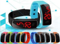 Wholesale Mens Colorful Sport Watches - New design Candy LED Silicone Bracelet watches Colorful Fashion Women Mens Sports Digital Led Watches with Silicone band relogio masculino