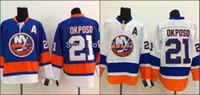 Wholesale Hockey Jerseys Home - Top Quality Kyle Okposo Jersey #21 NY New York Islanders Jerseys Royal blue home white road away hockey jerseys authentic Cheap