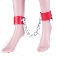 Wholesale Hot Sexy Erotic Couples - HOT erotic slave foot cuffs, ankle Cuffs For sex,sexy toys for couples,fetish,adult games,bondage restraints,sex shop
