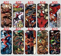 Wholesale S3 Cartoon - Cartoon SpiderMan For iPhone 6 6S 7 Plus SE 5 5S 5C 4S iPod Touch 5 For Samsung Galaxy S6 Edge S5 S4 S3 mini Note 5 4 3 phone cases