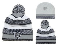 Wholesale Cheap New Fitted Caps - top quality new Cotton Beanies Hat For Men, Cheap RAIDERS Basketball Knitted Hat Sport Skullies Warm Women Winter Hat free shipping