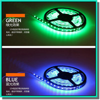 Wholesale Glue Led Strip - hot selling 5m one set 5050 3528 led strip with 3M glue on back for cabinet and display case with free shipping