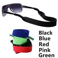 Wholesale Glasses Head Band - Wide Eyeglasses Strap Eyewear Strap Neoprene Sunglasses Strap Glasses Head Band Glasses Sunglasses Retainer Cord 100Pieces