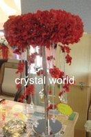 tabelas apenas venda por atacado-(Apenas suporte mental) Peça central de cristal de acrílico / mesa central 11, navio livre, decoração do casamento