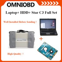 Wholesale Star Diagnosis Laptop - 2015.12 Newest software installed on Dell D630 Laptop MB Star C3 for Ben-z Auto Diagnosis C3 multiplexer DHL Free