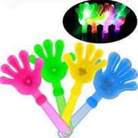 LED piscando Clap Your Hands 28cm Light Up Shake Toy Bar KTV Cheering Props Glow Party Brinquedos de Natal OOA3552