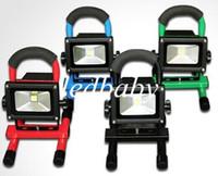 reflector recargable ip65 al por mayor-Proyector LED Recargable 5W 10W 20W 30W 50W Inalámbrico LED Punto de luz de inundación Luz de trabajo portátil LED Luz de trabajo que acampa caminando CE CE RoHS