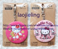 Wholesale multi designs cute cartoon hello Kitty fashion Compact hand Cosmetic portable pocket tin mirror
