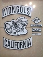 Wholesale Biker Mongols Patches For Jacket Custom Patch Motorcycle Vest Patches Mc Patches