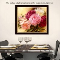 New Faashion Strass Pasted diamant broderie Cross Stitch 45 * 35cm Diamond Painting Resin Set Peony DIY Handmade