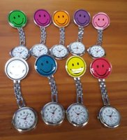 Wholesale nurses watches metal resale online - Mix colors night nurse luminous watches smile metal watch doctor medical watches iron watches NW011