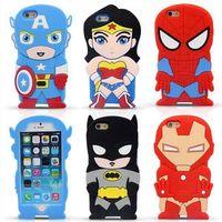 Wholesale Iphone 3d Cases Superheroes - New The Avengers cell Phone case Superhero Phone case 3D Cartoon Phone case The Avengers cell Phone case Drop Resistance iphone case D83