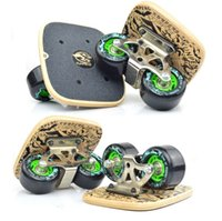 Wholesale New Skateboards High Quality Bearings Skateboard Drift Freeline Skate Super PU Wheel Shock Absorption Print Split Slide MC