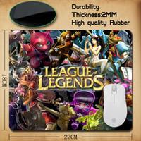 Wholesale Portrait Family - Wholesale-LOL League of Legends mouse mat Family Assassin Portrait portrait printing mousepad for League of Legends fan gift