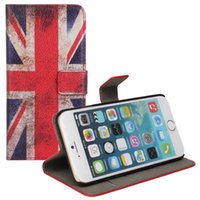 "Wholesale Iphone Wallet Uk - UK Flag Wallet Case for iPhone 6 4.7"" PU leather flip cover Vintage Style"