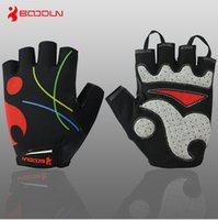 Wholesale Mesh Bicycle Gloves - Bicycle Half Finger Gloves Summer Breathable Mesh Half Finger Cycling Gloves Super-Elastic Lycra Breathable Shock Absorption