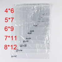 Wholesale Adhesive Plastic Bags Opp - PE Clear Plastic Bags Zip Locks Ziplock Zipper Poly OPP Self Adhesive Seal Packing Package Packaging for Retail Recyclable 7C Small Size