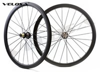 Wholesale road wheelset disc - Velosa Disc 35 Road Disc Brake carbon wheelset, 38mm clincher tubular ,700C road bike wheel,cyclocross wheel